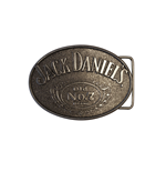 Jack DANIEL'S - Black With Oval Buckle Old NO. 7 Logo (cintura )