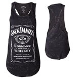 Jack DANIEL'S - Front Panel PRINTED/MARBLE Wash (top Donna )
