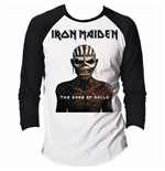 Iron Maiden - RAGLAN/BASEBALL Book Of Souls Black White (T-SHIRT Unisex )