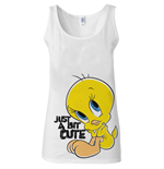 Looney Tunes - Tweety - Just A Bit Cute White Girls Tanktop (top Donna )