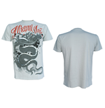Miami Ink - GREY/WHITE Dragon Red Logo (T-SHIRT Unisex )