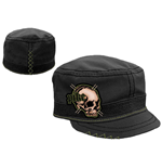 Pike - Black Cadet With Skull Green Emb (cappellino)