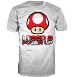 Nintendo - I Need A Power Up White (unisex )