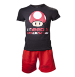 Nintendo - Shortama BLACK/RED (pigiama )