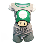 Nintendo - Shortama Mushroom 1 Up (pigiama Donna )