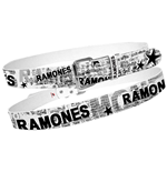 Ramones - White With Full News Print Collage (cintura )