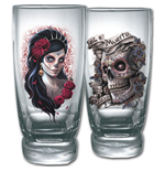 Day Of The Dead Water Glasses - Set Of 2 (Bicchieri)