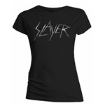 Slayer - Scratchy Logo Black (donna )