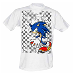 Sega - White Checkered Background (T-SHIRT Unisex )