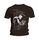 Doors (THE) - La Woman Lyrics Black (T-SHIRT Unisex )