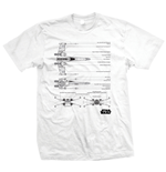 Star Wars - X-WING Fighter Bianco (unisex )