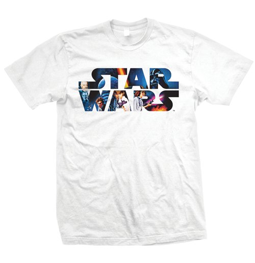 Star Wars - Space Montage 3 Bianco (unisex )