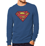 Superman - Distressed Logo (felpa Unisex )