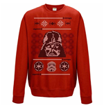 Star Wars - Vader Head X Mas Red (felpa Girocollo Unisex )