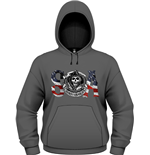 Sons Of Anarchy - Flag (felpa Unisex Con Cappuccio Unisex )