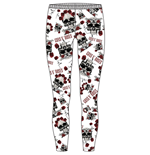 Guns N' Roses - Skull & Roses Black (leggings TG. X)