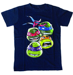 Teenage Mutant Ninja Turtles - Blue Faces (T-SHIRT Bambino )