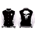 Punisher (THE) - Skull Logo - Nero / Bianco (giacca College Unisex )