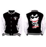 Batman - Joker Why So SERIOUS? - Nero / Bianco (giacca College Unisex )
