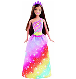 Mattel DHM52 - Barbie Fairytale - Principessa Rainbow Fashion