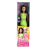 Mattel DGX63 - Barbie Fashion And Beauty - Barbie Regala Accessorio Vestito Verde