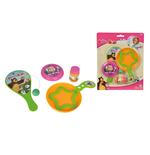 Masha E Orso - Set Estate Con Bolle Di Sapone 30 Ml, Paddle Ball E Mini Frisbee