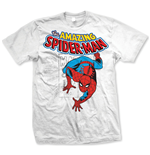Marvel Comics - Spiderman Stamp Bianco (T-SHIRT Unisex )