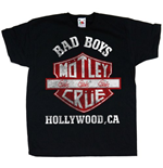 Motley Crue - Bad Boys Shield (T-SHIRT Bambino )