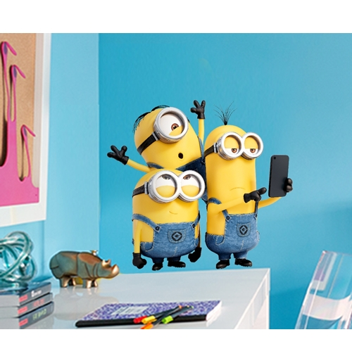 Wall Sticker I Minions Selfie&Run