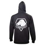 Metal Gear - Black Diamond Dogs Zipper (felpa Con Cappuccio Unisex )