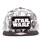 Star Wars - Comic Style With Metal Plate Logo (Cappellino)