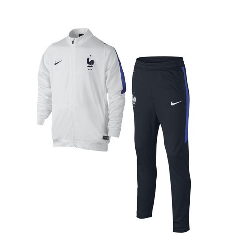 Tuta Francia 2016 2017 Nike Revolution Knit (Bianca) da bambino