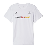 T-shirt Germania 2016-2017 Adidas Euro 2016 (bianca)