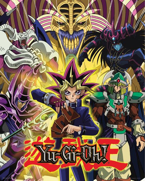 Poster Yu-Gi-Oh! - Yugi and Monsters