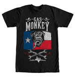 T-shirt Gas Monkey Garage Lone Star Black
