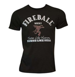 T-shirt Fireball Cinnamon Whisky da uomo