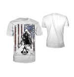 ASSASSIN'S Creed Iii - White Burned Flag (T-SHIRT Unisex )