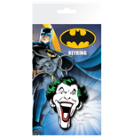 Batman Comic - Joker Face (Portachiavi Gomma)