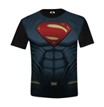 Batman V Superman - Superman Costume Full Printed Boys Black (T-SHIRT Bambino )