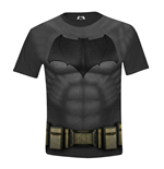 Batman V Superman - Batman Costume Full Printed Boys Black (T-SHIRT Bambino )