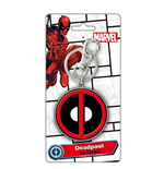 Portachiavi Deadpool - Logo Colour Pewter