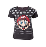 Nintendo - Mario Black With Stars (T-SHIRT Unisex )