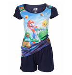 Nintendo - Mario And Yoshi All Over Printed Shortama (pigiama )