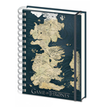 Quaderno a spirale Il trono di Spade (Game of Thrones) A5 Map