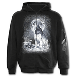 Spiral – White Wolf - Full Zip Black (felpa Unisex )