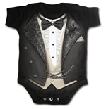 Spiral - Tuxed Baby Sleepsuit Black (body Bambino )