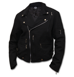 Spiral - Death RE-RIPPED - Lined Biker Jacket Black (giacca Uomo )