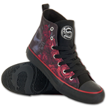 Spiral - Blood Rose Sneakers - Ladies High Top Laceup L41-8 (scarpe Donna )