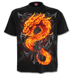 Spiral – Fire Dragon Kids T-SHIRT Black (T-SHIRT Bambino )