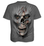 Spiral – Stitched Up T-SHIRT Charcoal (T-SHIRT Unisex )